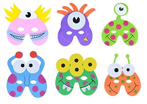 Storm&Lighthouse 12x Monster / außerirdisches Schaum Masken - Party Taschenfüller / Klassenzimmer Auszeichnungen / Kinderspielzeug / Preise