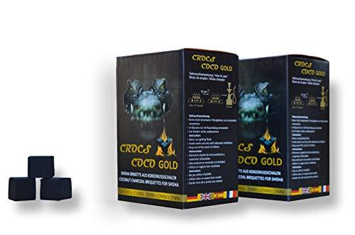 Crocs Coco Shisha Kohle Gold 2kg