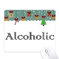 アルコールのスマートなワード ゲーム用スライドゴムのマウスパッドクリスマス