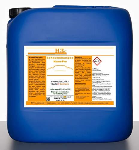 HaTec Nano-Pro - Champú de espuma para coche, 30 kg, con cera dura, espuma activa, cuidado de vehículos, limpieza de vehículos