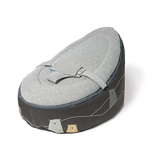 Doomoo Sitzsack Sitzsack für 0-10 Jahre, Bärengrau
