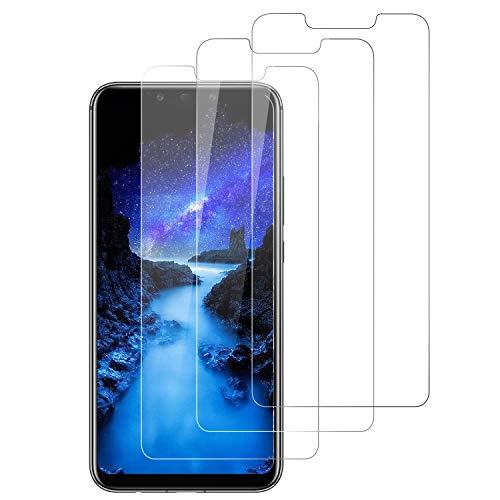 DASFOND Cristal Templado para Huawei Mate 20 Lite,[3 Unidades] 9H Dureza, Sin Burbujas, Anti-rasguños,Alta Definicion,Alta Sensibilidad Protector de Pantalla para Huawei Mate 20 Lite Vidrio Templado