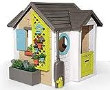 Smoby Casita Infantil Tematizada Garden House, con Herramientas de Jardinería,...