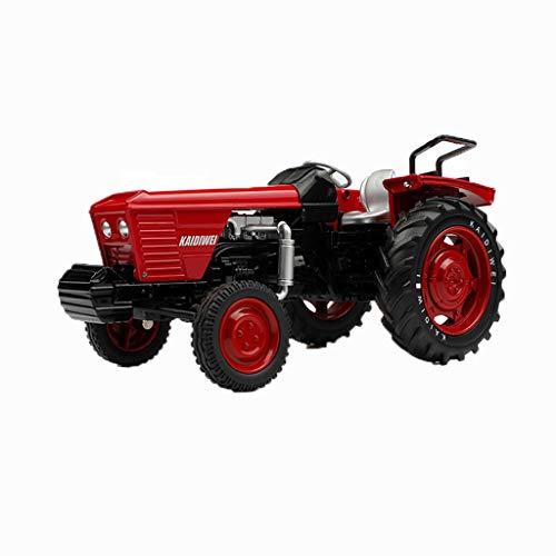 TXXM Juguete Camiones de Juguete de construcción de vehículos de Juguete Carro del Tractor de Remolque de Tractor motocultor Camiones de Juguete for los niños (Color : Tractor Red)