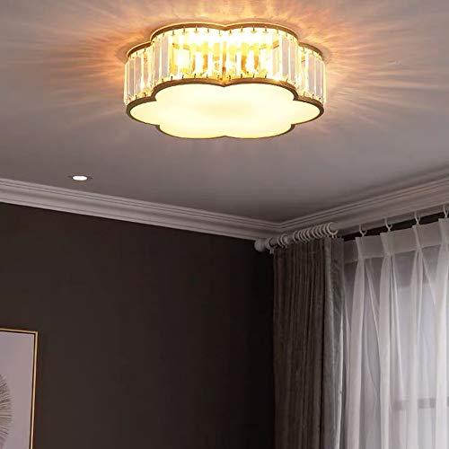 Scra AC Luz De Cobre Sala De Estar Romántica De Lujo Iluminación Lámpara De Cristal Lámpara De Dormitorio Lámpara De Techo