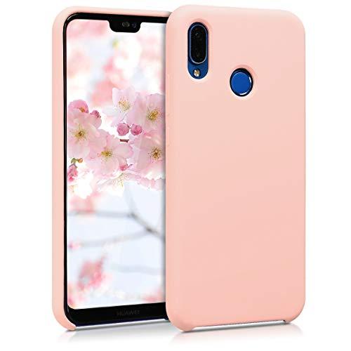 kwmobile Cover Compatibile con Huawei P20 Lite - Custodia in Silicone TPU - Back Case Protezione Cellulare Rosa Antico Matt