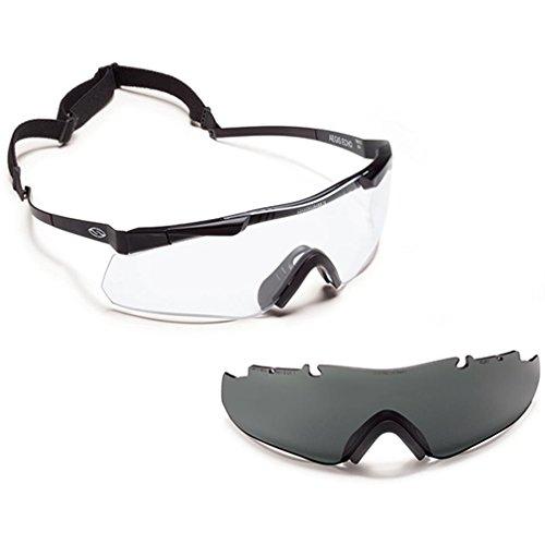 Smith Optics Aegis Echo Tactical Elite Compact, mit austauschbaren Gläsern, Schwarz