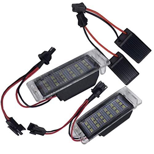 MuChangZi 2 Stücke Auto LED Kennzeichenbeleuchtung 12 V Weiß SMD Led-Lampe Kit für O/pel/Vauxhall Mokka Buick Encore 2012-16 C/hevrolet Equinox Impala Sonic SS