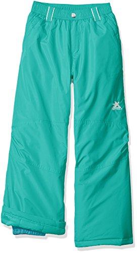 ZeroXposur Girls Snow Pants Water Resistant Ski Pants Teal (Small)