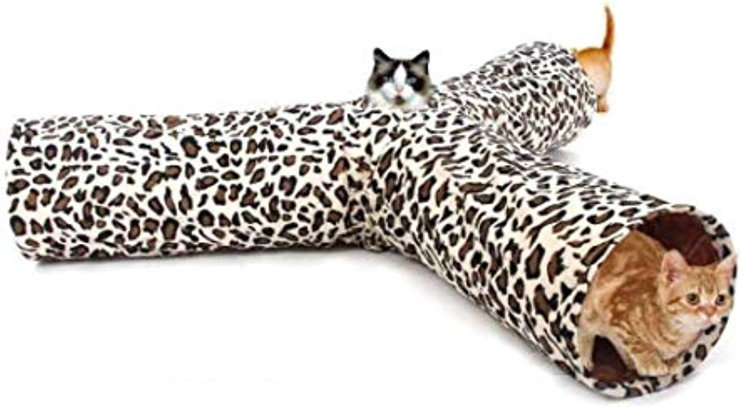 Cat Tunnel cat Tunnel Leopard Pattern cat Toy pet Leopard 3 Foldable cat Home Toy