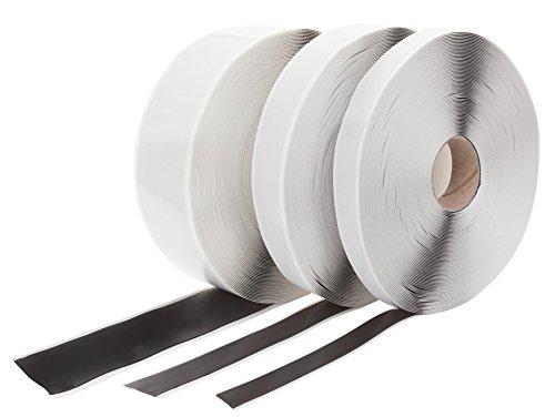 Butylband Schwarz beidseitig klebend 20 mm x 1 mm. Länge: 25 Meter