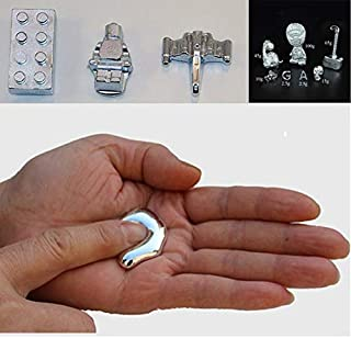 Miklan Pure Gallium Low Melting Point Metal Magic Magician Supplies Refined Metal Gallium Gravitonium, No Mercury,Hand Magic Educational DIY Toy