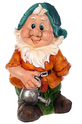 Birendy RIESIGER Zwerg, Gartenzwerg XXL Gartenwichtel NF14286 Groß 41cm Gartenfigur (14286-5-Gießkanne)