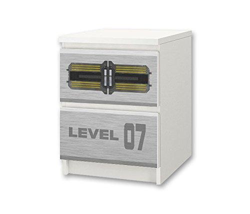STIKKIPIX Rumsfartyg möbelklistermärke/dekal – NS52 – för barnkammare byrå/nattbord MALM från IKEA – möbler ingår ej