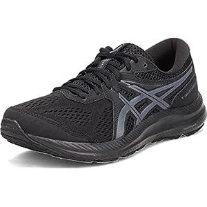ASICS Women's Gel-Contend 7 Running Shoes, 6, Black/Carrier Grey
