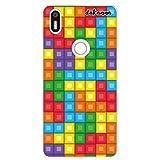 dakanna Funda Compatible con [Bq Aquaris X5 Plus] de Silicona Flexible, Dibujo Diseño [Bloques de Juego Multicolor], Color [Borde Transparente] Carcasa Case Cover de Gel TPU para Smartphone