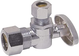 Eastman 10738LF 1/4-Turn Angle Stop Valve 3/8-inch x 5/8-inch, Chrome