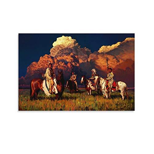 DONGXIO Rdr2 Poster, Motiv: Indianer, 60 x 90 cm
