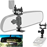 Easy Install Car Rearview Mirror Radar Detector Mount for Escort Max/Max 2 / Max360 from 2015-2019 Radar (This is NOT for MAX360C or The 2020 Revised MAX360 That use Magnetic dockradar)