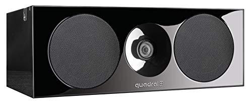 QUADRAL Platinum+ One Base Schwarz - 2-Wege Center-Lautsprecher mit Passiv-Membran