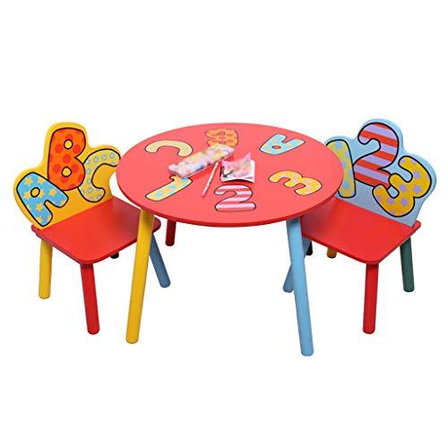 ZY Children's study table and chair Juego de Mesa y Silla para niños, Escritorio de bebé/Mesa de Juego/Mesa de Comedor, para Dormitorio/Sala de Estar/jardín de Infancia