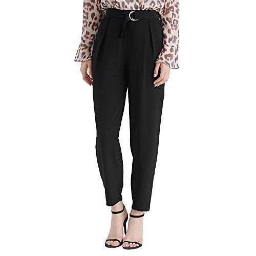LilySilk Seidenhose Damenhose Pants Damen aus Seide von 18 Momme Schwarz XXL Verpackung MEHRWEG