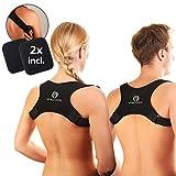 SIEGER 2020 Vitalfabrik Rückenstütze Geradehalter zur Haltungskorrektur Schultergurt Rückenstabilisator Rückenschmerzen Haltungskorrektur Rücken Damen Haltungskorrektur Rücken Männer Rücken -
