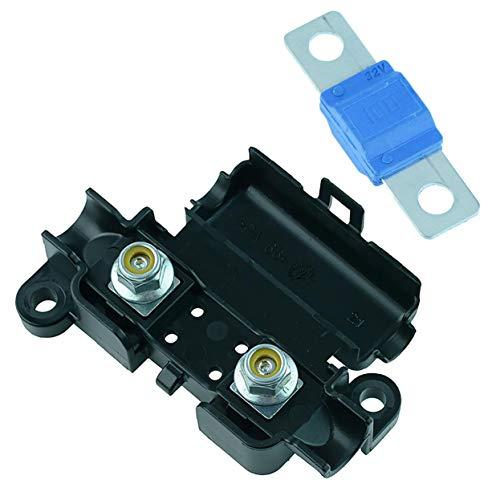 Midi-/Streifensicherungshalter und Midi-Sicherung (30 A bis 150 A) Auto Auto KFZ 12 V (100 A Blau)