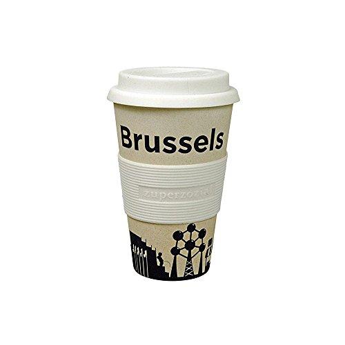 Coffee to-go beker 'Cruising Travel Mug City' - van bamboevezels en maïs