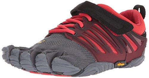 Vibram Fivefingers V-Train, Zapatillas de Deporte Hombre, Gris (Grey/Black/Red Grey/Black/Red), 47 EU