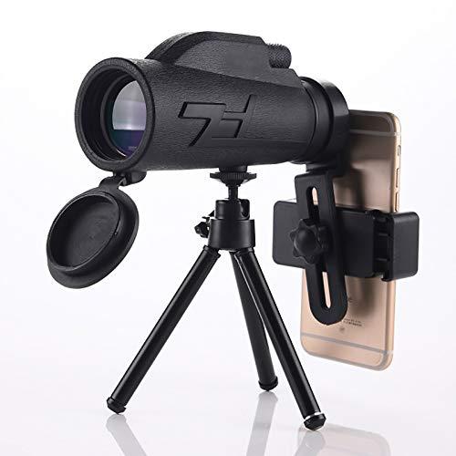 MWKL 200x80 HD Telescopio Monocular, FMC BAK4 Monocular Impermeable Portatil para Observación de Aves Viajes Conciertos Competición, con trípode de Clip para teléfono