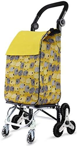 Einkaufswagen Leichtes, einkaufstrolley zum schieben mit 8 rädern einfachen Klettern Klapptyp mit Universalrädern Große Kapazität Verstellbare Griffe für stabile Tragfähigkeit 30 kg (Color : 3)