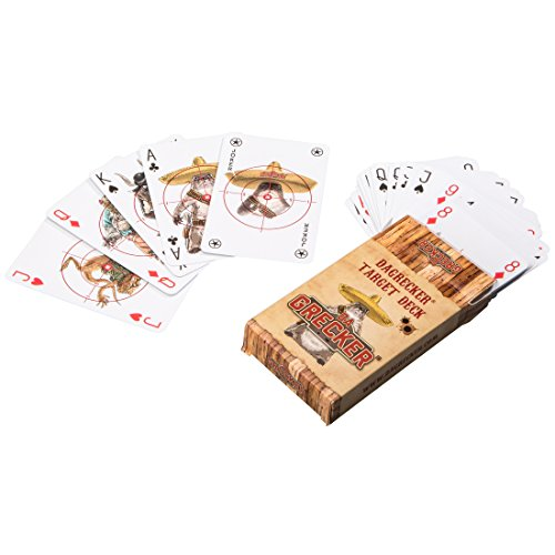 DAGRECKER Kartenspiel/Zielkarten im Western-, Zombie- & Military-Design, 55 Karten