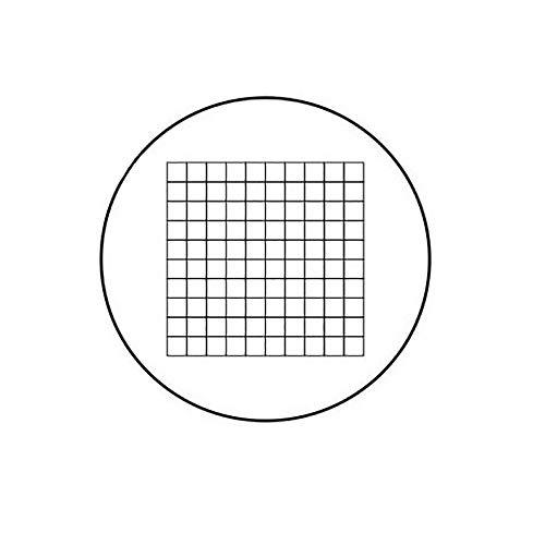 Microscope Micrometer Net Shaped Eyepiece Micrometer Microscope Calibration Ruler Slides Area Measuring Microscope Micrometer (C5)