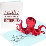 PopLife Naughty Octopus 3D Pop Up Card -'I wish I was an octopus.',...