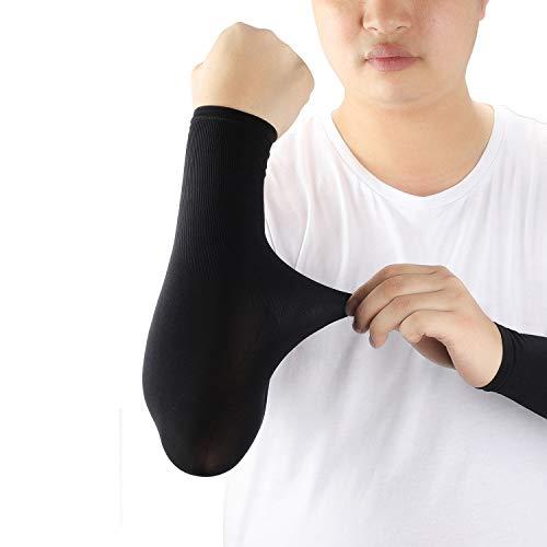 ioutdoor Arm Sleeves Kühlung UPF 50+, Kompressions Tattoo Cover Armstulpen, Elastische, Atmungsaktiv, Anti-Rutsch, Kein Verblassen, Pillingresistent, Unisex-Ärmlinge, 2 Paare