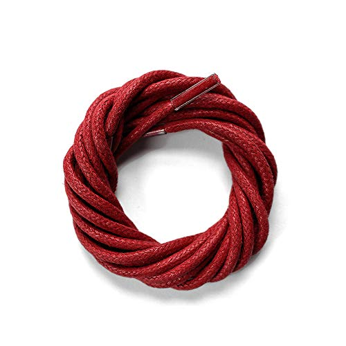 Waxed Cotton Oxford Shoelaces  Unbranded, Unlimited (36 (91cm), Burgundy)