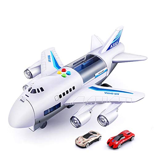 YXDS Children's Airplane Toy Simulation Aircraft Toy Passenger Aircraft Car Model Large Size Passenger Plane Kids Airliner Toy