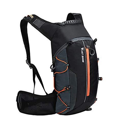 LTGABA Bolsa de Bicicleta Impermeable Reflectante Outdoor Deporte Mochila Montañismo Escalada Viajes Senderismo Bolsa de Ciclismo Mochila (Color : 10L Orange Bag)