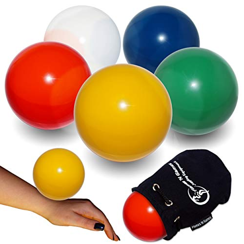 Flames N Games Practice Contact Ball + Suede Bag - Pro Contact Balls for All Abilities. Available in 3 Sizes and 5 Colours!! (Red, 100mm)