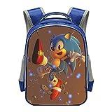 13 Pulgadas Mario Bros Sonic Boom Hedgehogs Kindergarten Mochilas Escolares Mochilas para niños...