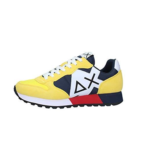 Sun 68 Sneakers Uomo Modello Jaki Bicolor Colore Giallo (Numeric_42)