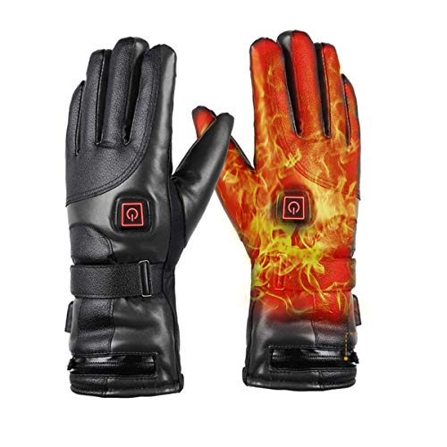 Elektrische Beheizbare Handschuh 7.4V Wiederaufladbar Winterhandschuhe Herren Damen Wasserdicht&Winddicht warm, Ideal für Arbeiten im Freien Skifahren, Motorrad, Jagen