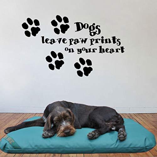 juntop Ebay Hot Dogs hinterlassen Pfotenabdrücke auf Ihrem Herzen. Dekorative Wandbilder Wandtattoo Stickercute Hundesprüche zitiert 75 * 45cm