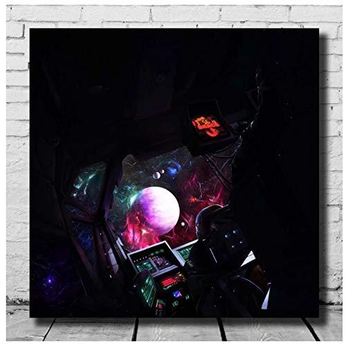 Xavier Wulf & BONES Brace Music Rapper Álbum Portada Impresión Arte de la pared Pintura de la lona Carteles de imágenes Obras de arte únicas Imágenes de la habitación Decoración -24x24 IN Sin marco