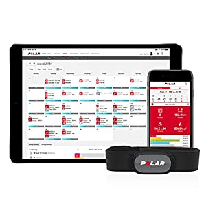 Polar H9 - Sensor de Frecuencia Cardíaca - ANT+ / Bluetooth - Sensor de FC Resistente al Agua con Elástico para Entrenar en el Gimnasio, Hacer Ciclismo, Correr o Practicar Deporte al Aire Libre
