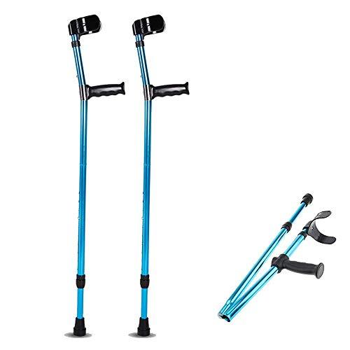 JHDPH3 Ajustable Caminar plegamiento del metal de caña codo Bastón for los jóvenes y ancianos, portátil, ligero y estable de Super Piernas Antebrazo Muletas de apoyo palo después de una lesión o cirug