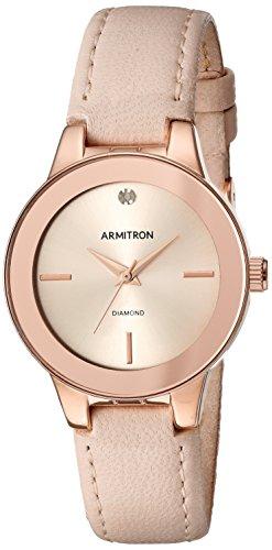 Reloj Armitron Diamond Accented para Mujer 30mm, pulsera de Piel