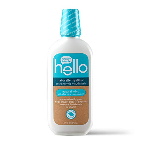 Hello Oral Care Naturally Healthy Antigingivitis Fluoride Free and SLS Free Mouthwash with Aloe Vera and Coconut Oil, great to use after vomiting when you have nausea from morning sickness