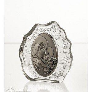 Crystaljulia Pisapapeles de cristal de Devotionalia, 12 cm, 12 x 3,5 x 12 cm
